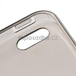 Gelový transparentní obal na iPhone 5 a 5s - šedý - 4