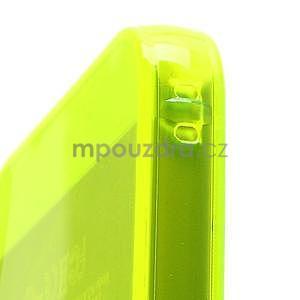 Gelový transparentní obal na iPhone 5 a 5s - zářivě žlutý - 4