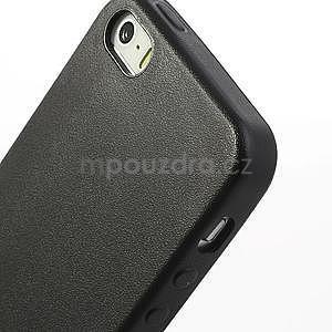 Gelový obal s texturou na iPhone 5 a 5s - černý - 4