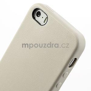 Gelový obal s texturou na iPhone 5 a 5s - šedý - 4