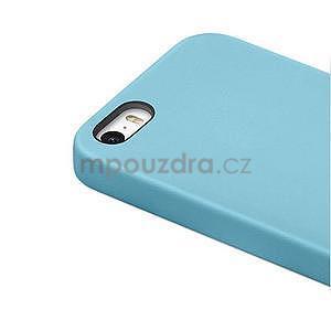 Gelový obal s texturou na iPhone 5 a 5s - modrý - 4