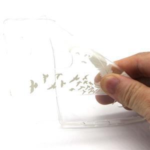 Průhledný gelový obal na LG G4c - ptačí pírka - 4