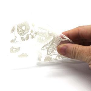 Průhledný gelový obal na LG G4c - ptáček - 4