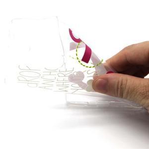 Průhledný gelový obal na LG G4c - kotva - 4
