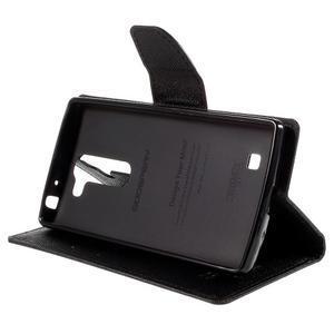 Diary PU kožené pouzdro na LG G4c - černé - 4