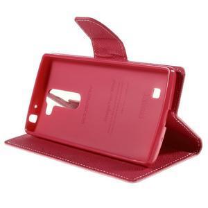 Diary PU kožené pouzdro na LG G4c - růžové - 4