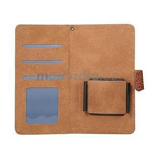 Crocostyle PU kožené univerzálne puzdro na mobily do rozmeru 16,3 x 8,3 x1,8 cm - hnedé - 4