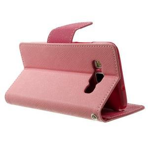 Diary PU kožené pouzdro na Samsung Galaxy A3 - růžové - 4