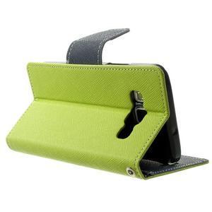 Diary PU kožené pouzdro na Samsung Galaxy A3 - zelené - 4