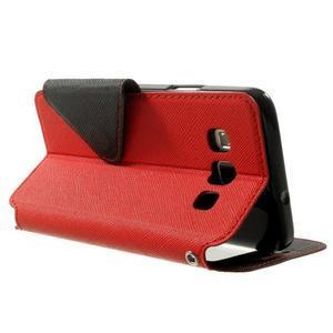 Roar peněženkové pouzdro s okýnkem na Samsung Galaxy A3 - červené - 4