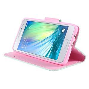 Pouzdro na mobil Samsung Galaxy A3 - ptáček v kleci - 4