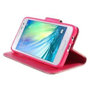 Pouzdro na mobil Samsung Galaxy A3 - červené srdíčko - 4