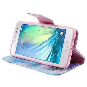 Peněženkové pouzdro na Samsung Galaxy A3 - odkvetlá pampeliška - 4