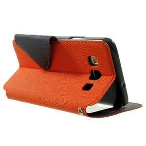 Roar peněženkové pouzdro s okýnkem na Samsung Galaxy A3 - oranžové - 4