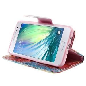 Peněženkové pouzdro na Samsung Galaxy A3 - malované pampelišky - 4