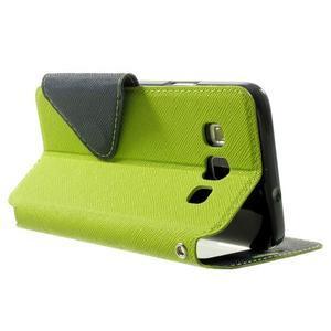 Roar peněženkové pouzdro s okýnkem na Samsung Galaxy A3 - zelené - 4