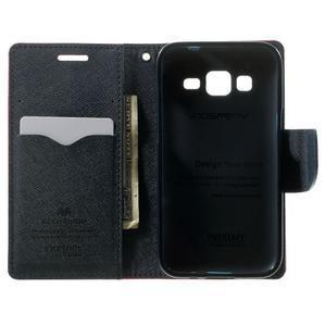 Fancy PU kožené pouzdro na Samsung Galaxy Core Prime - rose - 4