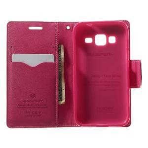 Fancy PU kožené pouzdro na Samsung Galaxy Core Prime - růžové - 4