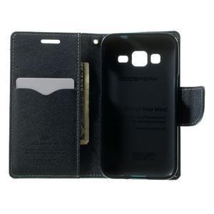 Fancy PU kožené pouzdro na Samsung Galaxy Core Prime - azurové - 4
