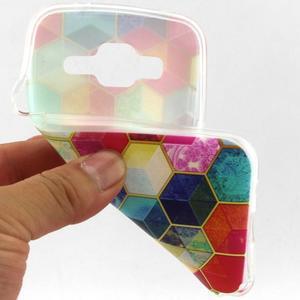 Gelový kryt na mobil Samsung Galaxy Core Prime - barvy hexagonu - 4