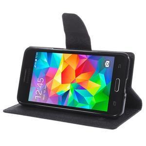 Diary PU kožené pouzdro na mobil Samsung Galaxy Grand Prime - černé - 4