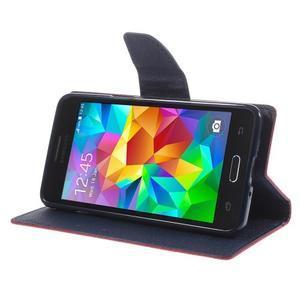 Diary PU kožené pouzdro na mobil Samsung Galaxy Grand Prime - červené - 4