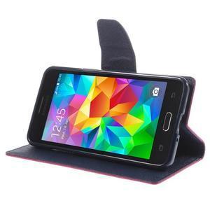 Diary PU kožené pouzdro na mobil Samsung Galaxy Grand Prime - rose - 4