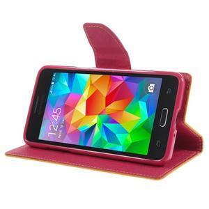 Diary PU kožené pouzdro na mobil Samsung Galaxy Grand Prime - žluté - 4