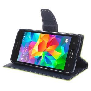 Diary PU kožené pouzdro na mobil Samsung Galaxy Grand Prime - zelené - 4