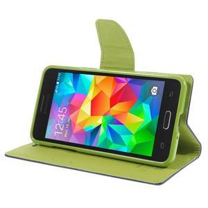 Diary PU kožené pouzdro na mobil Samsung Galaxy Grand Prime - tmavěmodré - 4
