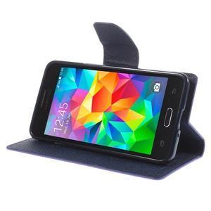 Diary PU kožené pouzdro na mobil Samsung Galaxy Grand Prime - fialové - 4