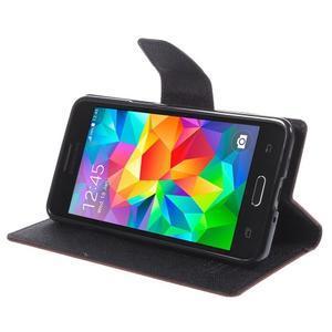Diary PU kožené pouzdro na mobil Samsung Galaxy Grand Prime - hnědé - 4
