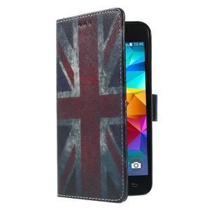 Wallet PU kožené pouzdro na mobil Samsung Galaxy Grand Prime - UK vlajka - 4