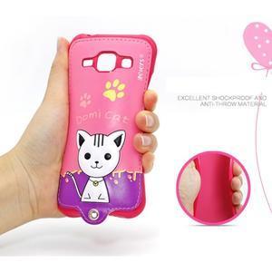 Domi gelové pouzdro s kočičkou na Samsung Galaxy J1 - rose - 4