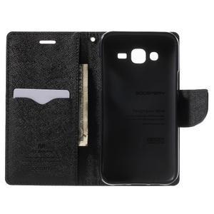 Diary stylové peněženkové pouzdro na Samsung Galaxy J5 - černé - 4