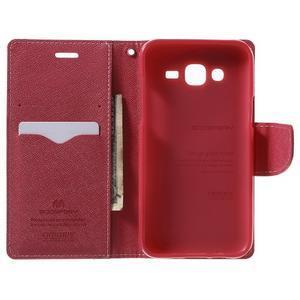 Diary stylové peněženkové pouzdro na Samsung Galaxy J5 - růžové - 4