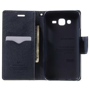 Diary stylové peněženkové pouzdro na Samsung Galaxy J5 - zelené - 4