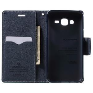 Diary stylové peněženkové pouzdro na Samsung Galaxy J5 - azurové - 4