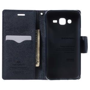 Diary stylové peněženkové pouzdro na Samsung Galaxy J5 - fialové - 4