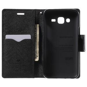 Diary stylové peněženkové pouzdro na Samsung Galaxy J5 - hnědé - 4