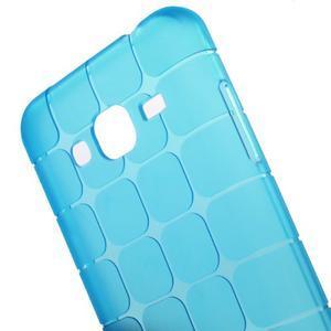 Square matný gelový obal na Samsung Galaxy J5 - modrý - 4