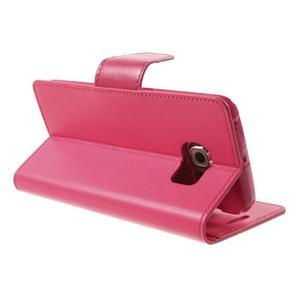 Wallet PU kožené pouzdro na Samsung Galaxy S6 Edge G925 - rose - 4