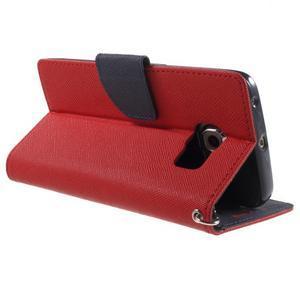 Diary PU kožené pouzdro na Samsung Galaxy S6 Edge - červené - 4