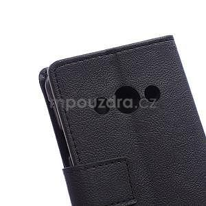 Peněženkové pu kožené pouzdro na Samsung Galaxy Xcover 3 - černé - 4