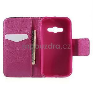 Vzorové peněženkové pouzdro na Samsung Galaxy Xcover 3 - mašlička - 4