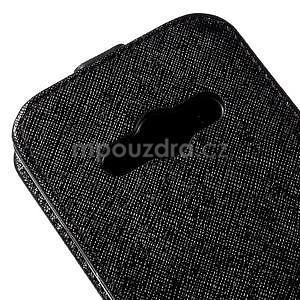 Flipové koženkové pouzdro na Samsung Galaxy Xcover 3 - černé - 4