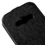 Flipové koženkové pouzdro na Samsung Galaxy Xcover 3 - černé - 4/5
