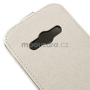 Flipové koženkové pouzdro na Samsung Galaxy Xcover 3 - bílé - 4