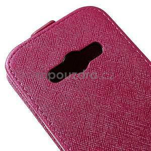 Flipové koženkové pouzdro na Samsung Galaxy Xcover 3 - růžové - 4