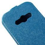 Flipové koženkové pouzdro na Samsung Galaxy Xcover 3 - modré - 4/5